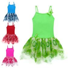 Kids Girls Ballet Dance Dress Gymnastics Leotard Tutu Dress Dancer Stage 3-8Y