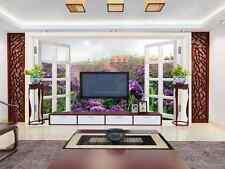 3D Lavendel Manor, Häuser 88 Fototapeten Wandbild Fototapete BildTapete Familie