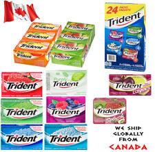 Trident Gum 12 Packs 2 Packs Layers Vanilla Tropical Peach Cherry Mango Splash