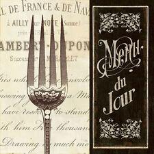 Pela Studio : Français MENU II image-châssis Toile café cuisine manger déco