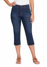 NWT Gloria Vanderbilt Ladies' Rhea Knit Waist Capri Scottsdale Blue SIZE 4, 6, 8