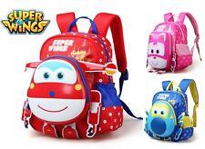New Super Wings Backpack For Boys / Girls School Cartoon Bag Kids Kindergarden