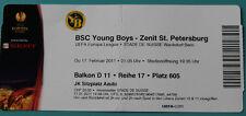 OLD TICKET EL Young Boys Bern Switzerland Suisse Zenit St. Petersburg Russia