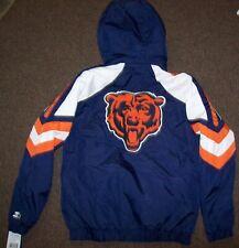 CHICAGO BEARS STARTER PRO LINE Hooded Winter Jacket S, M, L, XL, 2X BLUE
