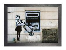 ATM Girl Banksy Poster Street Art On The Wall Black White Graffiti Cash Machine