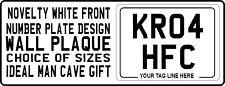 METAL PLAQUE / SIGN - Front Number Plate design car van motorcycle novelty gift