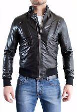 ★Giacca Giubbotto Uomo in di PELLE 100% Men Leather Jacket Veste Homme Cuir e6ae