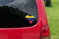 2 (PCS) Venezuela Outline Map Flag  Decals Stickers Full Color/Weather Proof