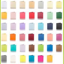 Farbwahl Pack 25 farbige blanko Faltkarten Klappkarten 150 x 150 mm 240 g/qm