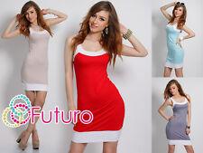 Sexy & Trendy Vestido de Verano Túnica sin Mangas Estilo Tiras Tamaño 8-12 8432