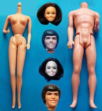 """1977 CELEBRITY BARBIE & KEN 11"""" mattel doll -- DONNY & MARIE OSMOND HEAD & BODY"""