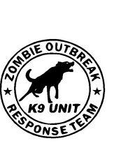Zombie Outbreak Response Team K9 Vinyl Decal Biohazrd Symbol car window laptop