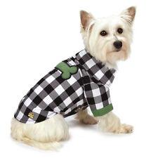 M. Isaac Mizrahi Gingham Dog Camp Shirt T-Shirt Top Tee Pet Clothing