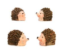 "Cute Miniature Ceramic Hedge Hogs - 1"" Mini - Set of Four! 804-3890"