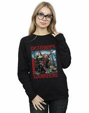 Marvel Women's Deadpool Here Lies Deadpool Sweatshirt