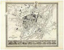 Alte München Illustriert Stadtplan Landkarte Meyer ca. 1844 - 1860