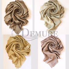 Silky Shiny Hijab Scarf Maxi Wedding Plain Shimmer Shawl Wrap Sarong Elegant