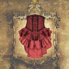 Gothic Barock Burlesque Bustle Tornüre Rock mit Schleppe und Schnürung 38 40