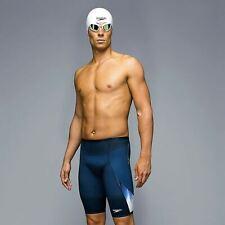 Speedo Fastskin 3 Super Elite Swimming Jammer Shorts Trunks Mens Navy/White-