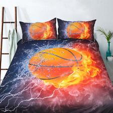 3D Burning Kung Fu Basketball Bedding Duvet Cover Set Boy's Bed Cover Bedclothes