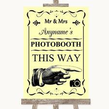 De esta manera Photobooth Amarillo Derecho Signo De Boda Personalizado