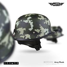 MOTO D33 ARMY W. CASCO DEMI-JET VESPA SCOOTER HELMET RETRO VINTAGE S M L XL XXL