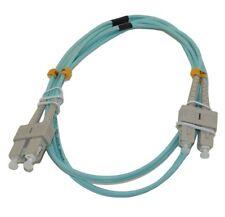 SC/SC 10G Multi-Mode Duplex OM3 50/125 Fiber Optic Networking Cable Agua