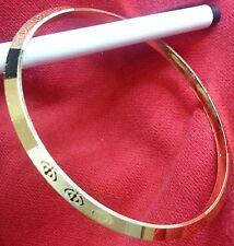 LASER Khanda incisa argento e oro placcato Sikh Singh Khalsa Kara braccialetto regalo