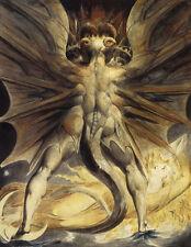 William Blake-Red Dragon Vintage Fine Art Print