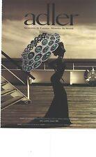 PUBLICITE 2012  ADLER joaillerie bijoux de luxe collier carbone saphir et diaman