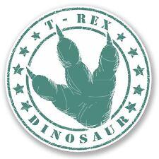 2 x T-Rex Dinosaur Vinyl Sticker Laptop Travel Luggage #4592