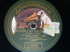 SPANISH 78 rpm RECORD Gramofono EMILIA BENITO Como las castañas / Serrana ETHNIC