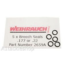 5 x Weihrauch HW100/HW101 Genuine Breech/Probe O Ring Seals - Part No: 2659A