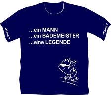 Schwimmmeister Bademeister T-Shirt Hallenwart Wunschname Schwimmhalle Retter 23