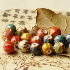 10pcs 12mm Ceramic Beads Vintage Flower Glaze Porcelain Bracelet Jewelry Making