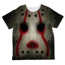 Halloween Horror Movie Hockey Mask Costume All Over Toddler T Shirt