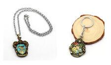 Harry Potter Hogwarts Gryffindor Slytherin Hufflepuff Ravencla Key Ring Necklace