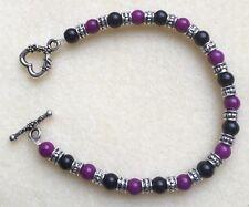 Glass Pearl Tribal Style T-Bar Bracelet - Various Colours