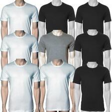 HUGO BOSS 3er Pack NEU T Shirt Rundhals CREW NECK TEE T- Shirts schwarz weiß gra