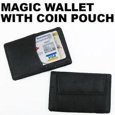 Genuine Leather Money Cards Holder Safely Pocket Magic Wallet Fun Novelty NR