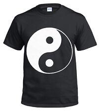 NEW YIN YANG 100 % Cotton T shirt/Biker/Chinese/Cross/Metal/Gift/Music/Top