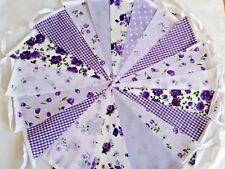 Lilac Fabric Bunting Wedding Vintage Shabby Chic Handmade Garland Banner