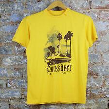 Quiksilver nuevo resultaron abajo/Verano Informal Mangas Cortas Camiseta Amarillo Tamaño S