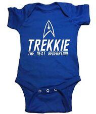 """Star Trek One Piece """"Trekkie The Next Generation"""" Baby Bodysuit"""