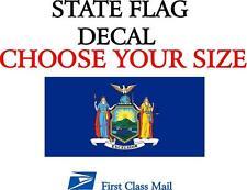 NEW YORK STATE FLAG, STICKER, DECAL, 5 YR VINYL