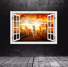Full Colour Horses Field Window Wall Art Sticker Transfer Girls Boys Room WSDW20