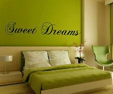 Sweet Dreams autocollant Art Mur - Décalque vinyle décalcomanie Citation -