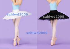Adult Classical Ballet Tutu Hard Organdy Platter Skirt Dance Dress 5Layers Tutus