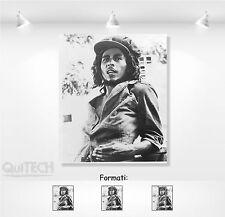 Bob Marley - 5 - Quadro stampa su Tela Pelle Canvas Dipinto Arte Moderna