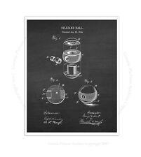 Billiard Decor Billiard Ball print #2  Invention Diagram Rec Room Decor